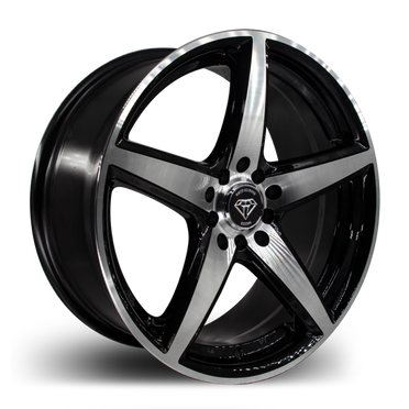 W244 White Diamond Wheel (Black Polish)