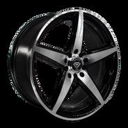 W244 White Diamond Wheel (Black Polish)