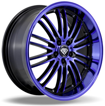 W820 White Diamond Wheel (Black/Blue Face)