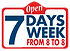 Tire Club open seven days a week logo