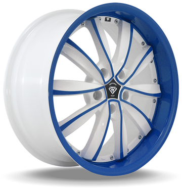 W981 White Diamond Wheel (Blue Face/White)