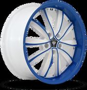 W981 White Diamond Wheel (Blue Face/White)