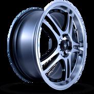 W354 White Diamond Wheel (Black Polish)