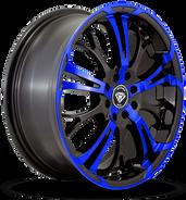 W667 White Diamond Wheel (Black/Blue Face)