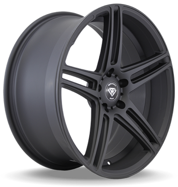 W3184 White Diamond Wheel Matte Black
