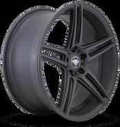 W3184 White Diamond Wheel Matte Black