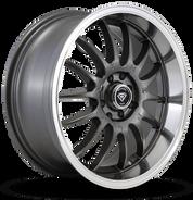 W824 White Diamond Wheel (Gunmetal/Polish Lip)