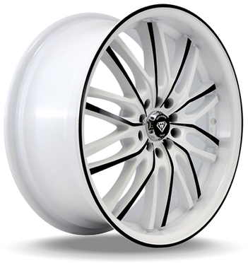 W3108 White Diamond Wheel (Black Face/White)
