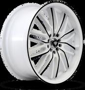 W3108 White Diamond Wheel (Black Face/White)