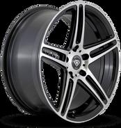 W3184 White Diamond Wheel Black Polish