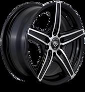 W3143 White Diamond Wheel Black Polish