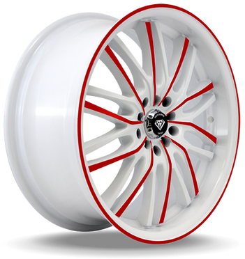 W3108 White Diamond Wheel (Red Face/White)