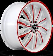 W3108 White Diamond Wheel (Red Face/White)
