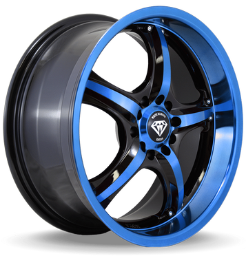 W511 White Diamond Wheel (Black/Blue Face)