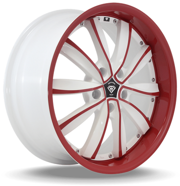 W981 White Diamond Wheel (Red Face/White)
