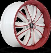 W981 White Diamond Wheel (Red Face/White)