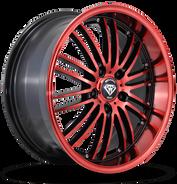 W820 White Diamond Wheel (Black/Red Face)
