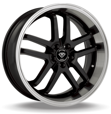 W817 White Diamond Wheel (Black/Polish Lip)