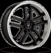 W817 White Diamond Wheel (Black/Polish Lip)
