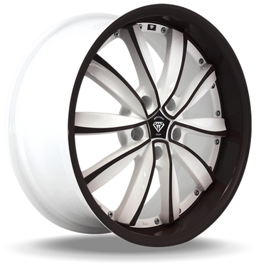 W981 White Diamond Wheel (Black Face/White)
