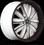 W981 White Diamond Wheel (Black Face/White)