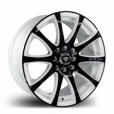 W3114Z White Diamond Wheel Black Face/White