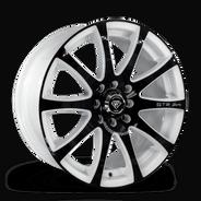 W3114Z White Diamond Wheel Black Face/White