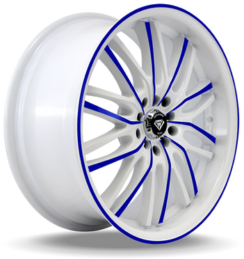W3108 White Diamond Wheel (Blue Face/White)