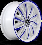 W3108 White Diamond Wheel (Blue Face/White)
