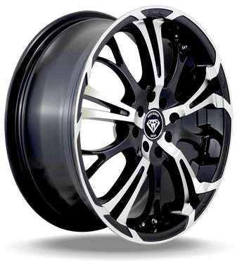 W667 White Diamond Wheel (Black/Polish Face)