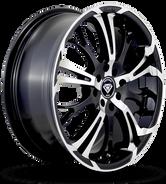 W667 White Diamond Wheel (Black/Polish Face)