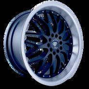 W359 White Diamond Wheel (Matte Black/Polish Lip)