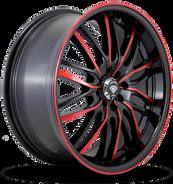 W3108 White Diamond Wheel (Red Face/Black)
