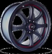 W359 White Diamond Wheel (Matte Black/Red Line)