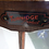 Thumbnail: A Vintage Walnut Veneer  Corner Drinks/Display Cabinet by Turnidge of London