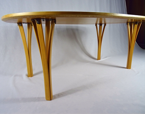 A Rare Danish Superellipse coffee table by Bruno Mathsson & Piet Hein