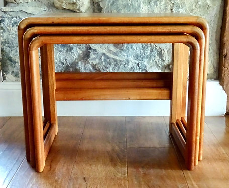 Mid Century O'Donnell Danish Design Teak Nest of Tables