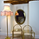 Thumbnail: Large Arts and Crafts Brass Bevelled Mirror