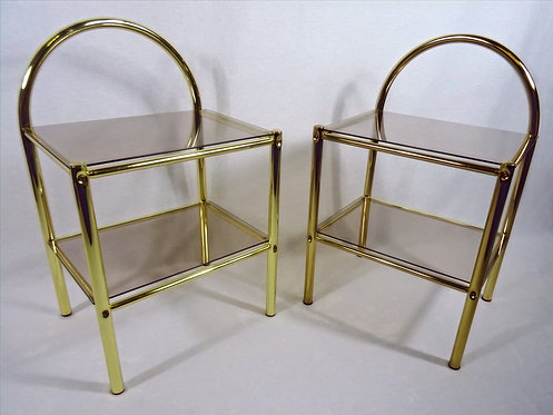 Pair of Vintage Gold Bedside/SideTables