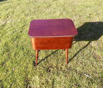 Mid Century Atomic Style Teak Sewing Box