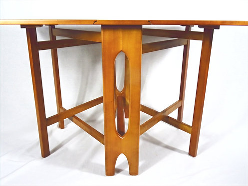 Mid Century Teak Drop Leaf Dining Table