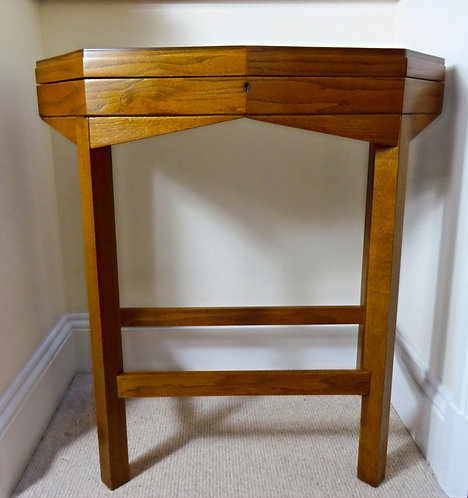 Vintage Art Deco Style Wood Console Table