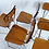 Thumbnail: Set of 5 Vintage French Formica Kitchen Chairs