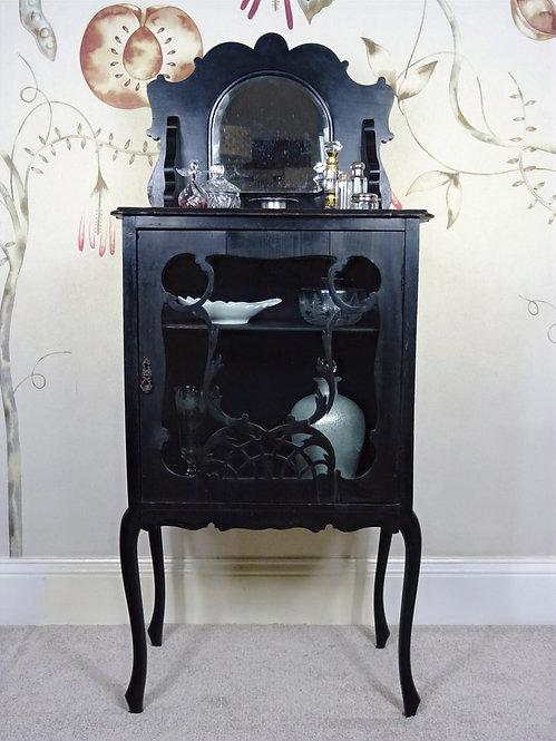 19th Century Ebonised Gothic Style Boudoir Cabinet