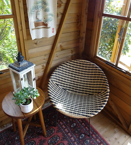 Mid Century Woven Cane Chair In The Style Of Dirk Van Sliedregt