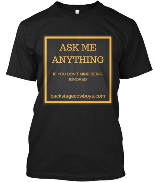 Ask me anything funny technical crew T-shirt