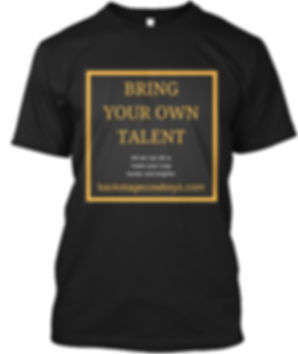 Bring your own talent funny technical crew T-shirt