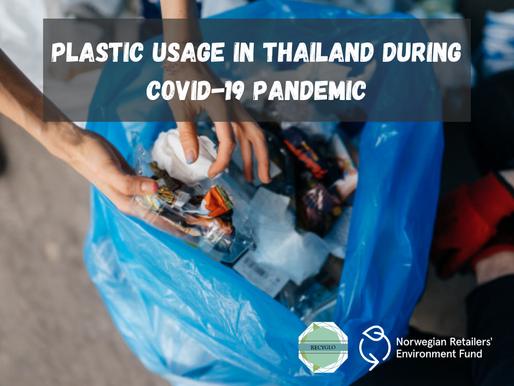 Plastic usage in Thailand during covid 19 period