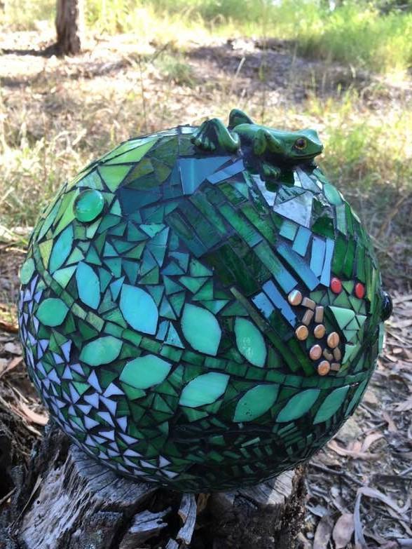 mosaic garden ball