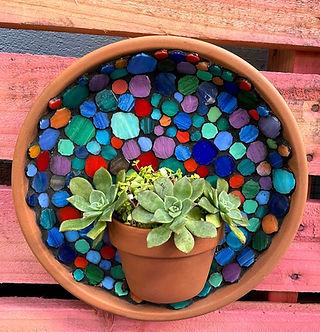 mosaic succulent hanger
